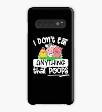 Funda/vinilo para Samsung Galaxy Vegetarier Vegan - I don't eat anything that poops
