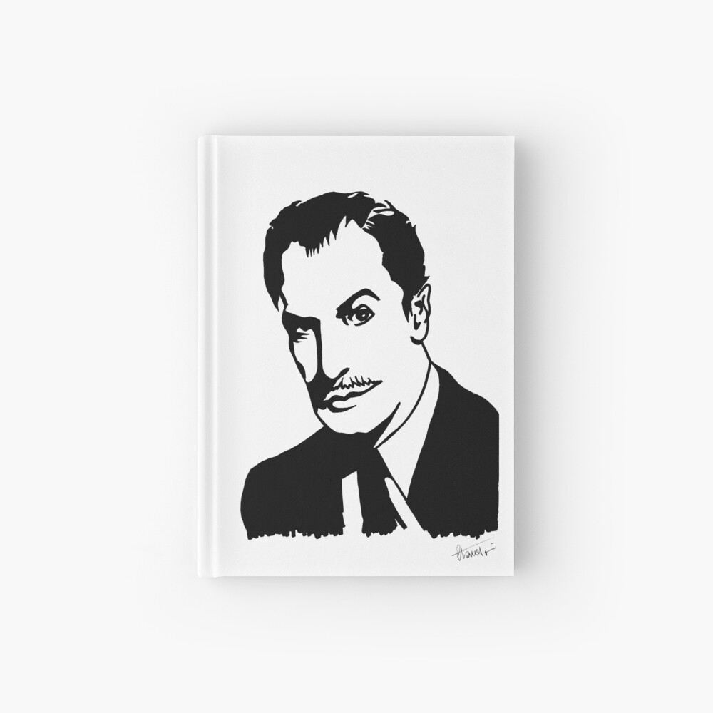 Vincent Price, master of horror, portrait signed by the artist Hardcover Journal