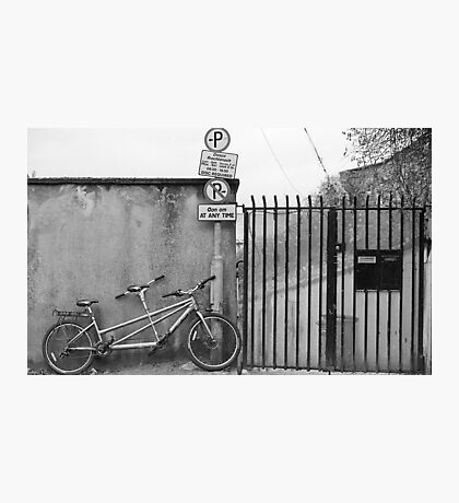 On A Bicycle Made For Two Photographic Print
