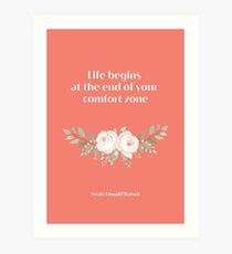 Neale Donald Walsch inspirational saying, Pantone Fusion Coral Art Print