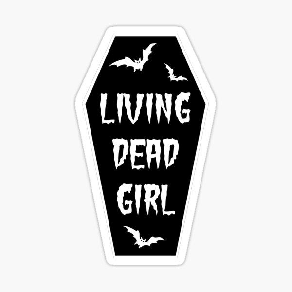 Living dead girl (coffin) Sticker