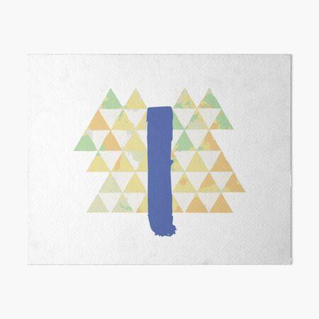 Blue Slide Park Art Board Print