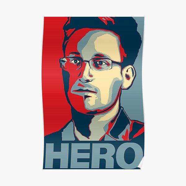 Edward Snowden Hero Art Poster