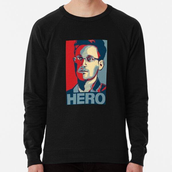 Edward Snowden Hero Art Lightweight Sweatshirt