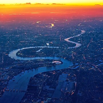 London Sunset Panorama Thames River England by MySunLife
