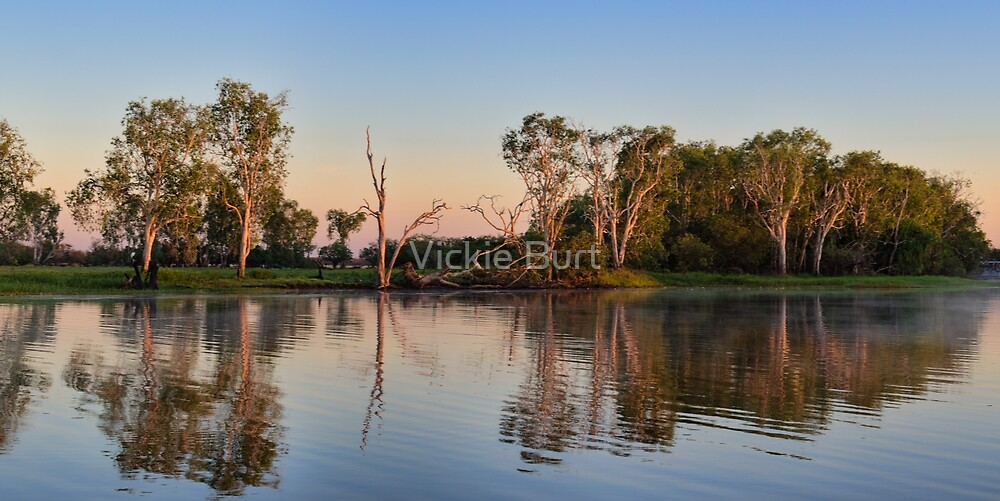 Sunrise on Yellow Water by Vickie Burt
