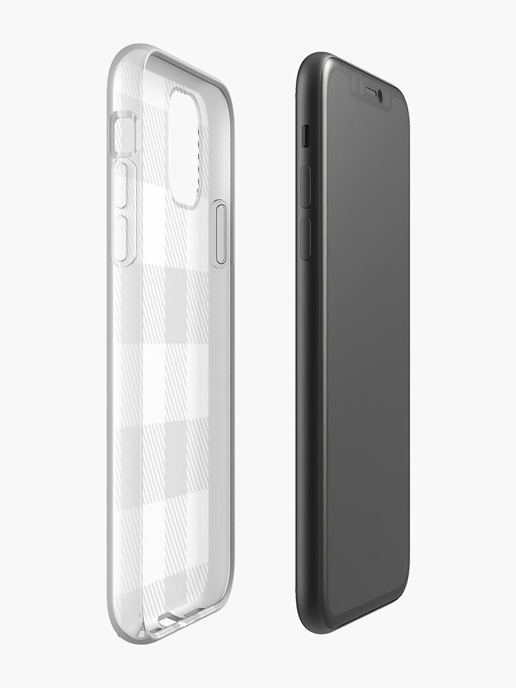 Coque iPhone «Buffalo Plaid - Blanc», par altizzy