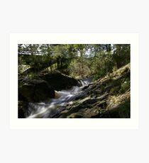 waterfall in packenham victoria Art Print