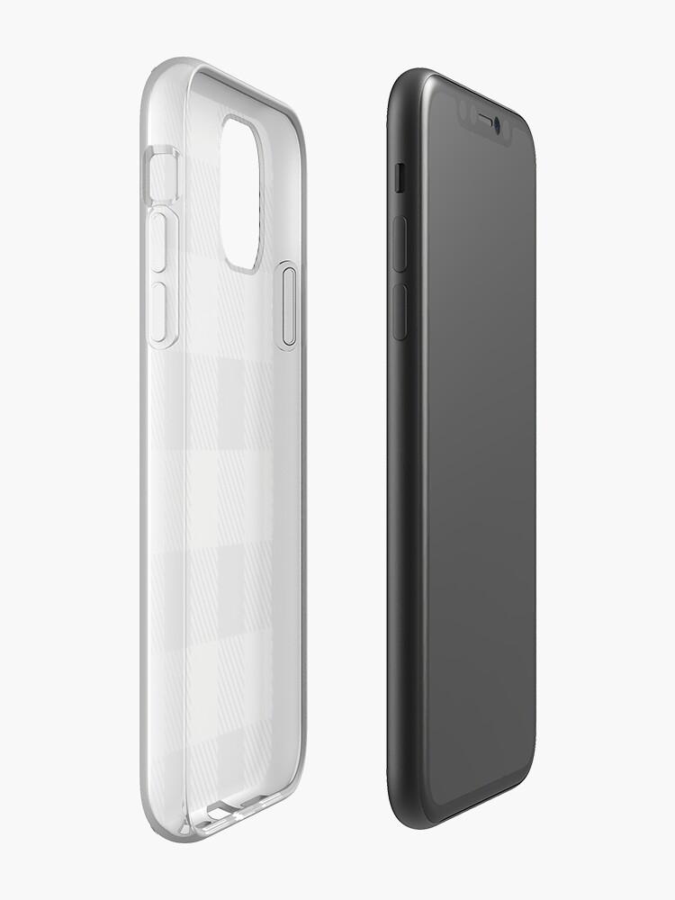 Coque iPhone «Plaid de Buffalo - Gris Foncé», par altizzy