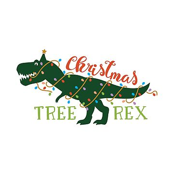 Christmas Tree Rex - Holiday Dinosaur with Festive Lights by WigOutlet