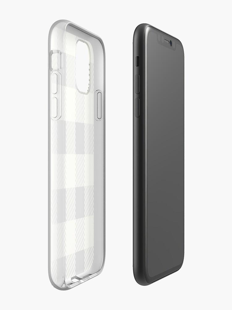 Coque iPhone «Buffalo Plaid - Crème», par altizzy