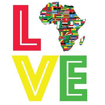 Love Motherland Africa Map  by CarterCooper