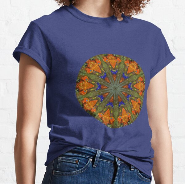 9 Orange Rockets Kaleidoscope Classic T-Shirt