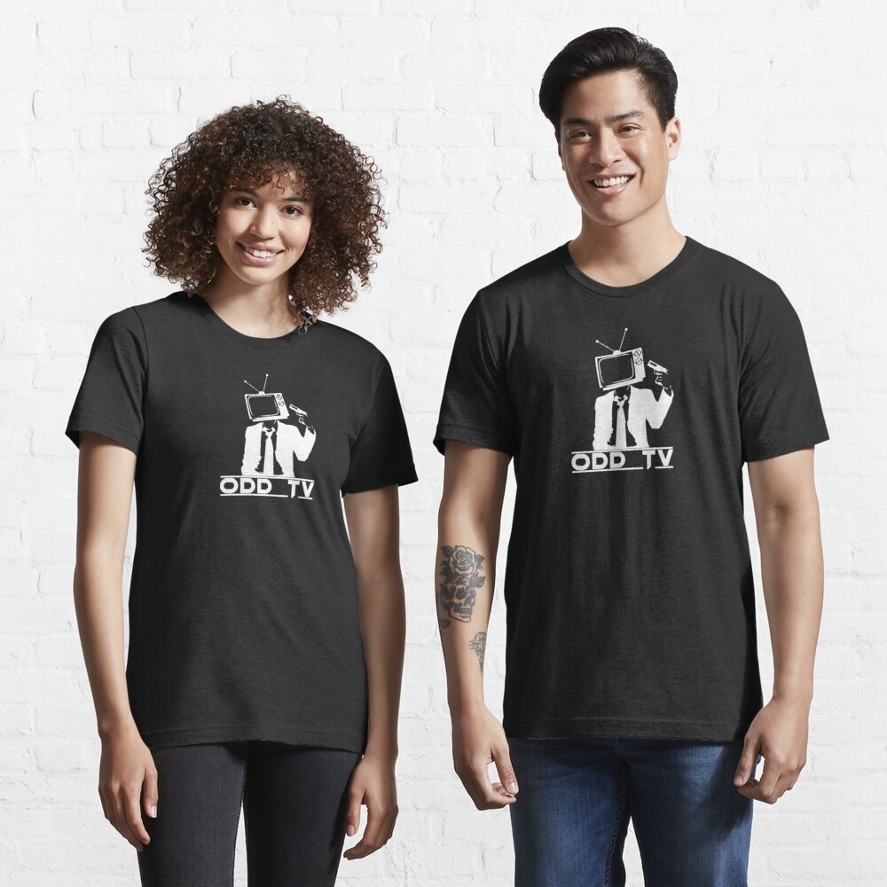 ODD Gunman White Logo Essential T-Shirt
