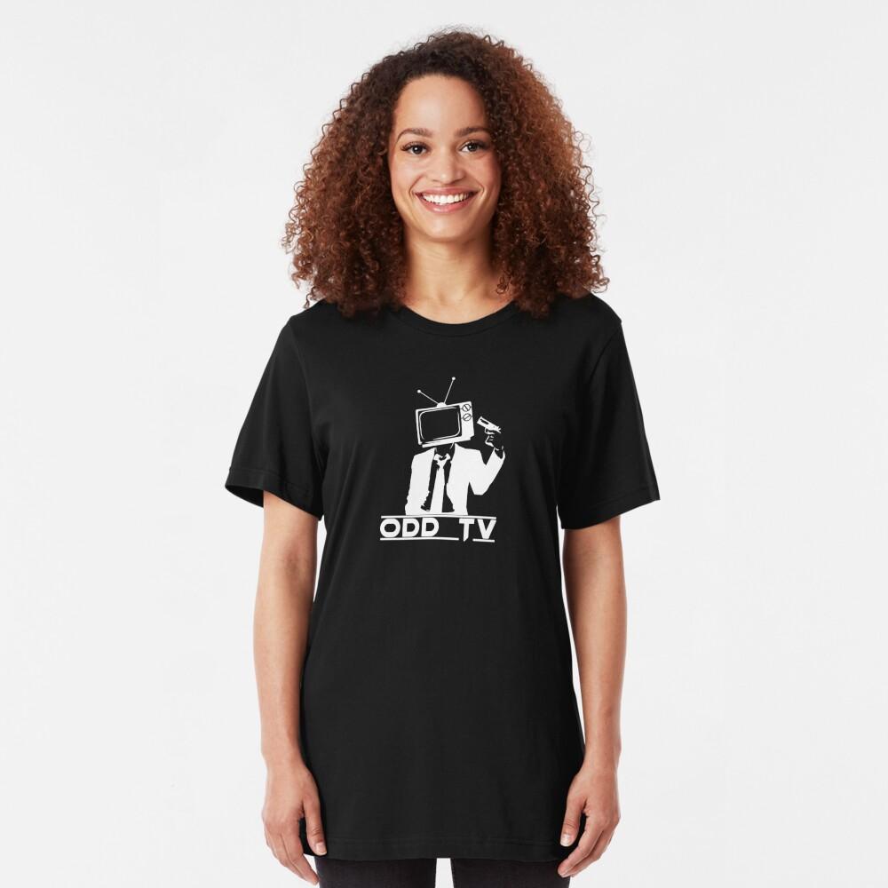 ODD Gunman White Logo Slim Fit T-Shirt