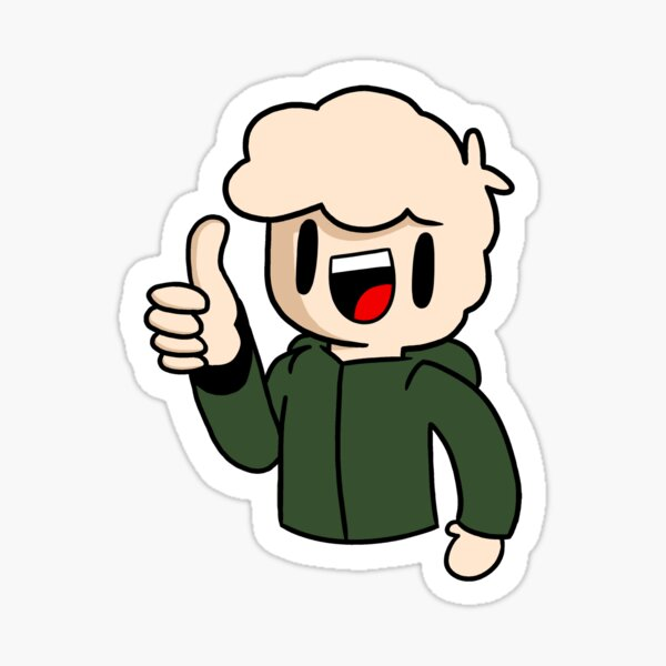 Thumbs up! (Coloured) Sticker