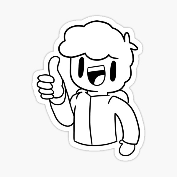 Thumbs up! (Black outline) Sticker