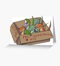 Free Velociraptors Greeting Card