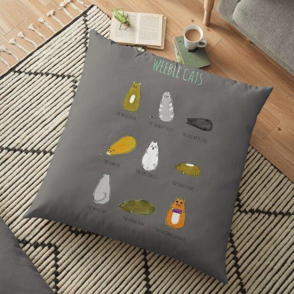 Weeble Cats! Floor Pillow