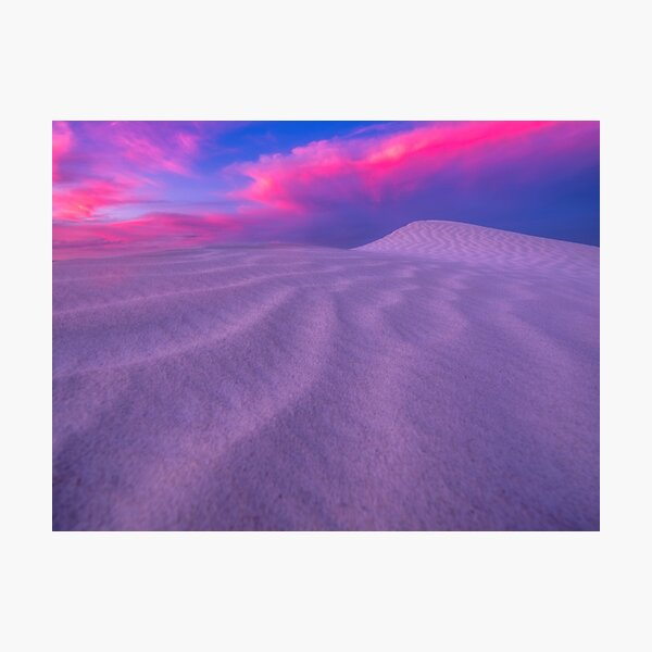 Esperance Dunes Sunset Photographic Print