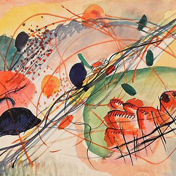 Vintage Wassily Kandinsky Aquarell c1944 by AllVintageArt