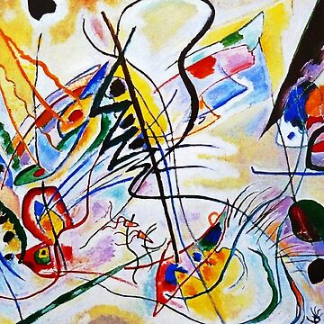 Vintage Wassily Kandinsky Musical-Overture Violet Wedge 1910-1940 by AllVintageArt