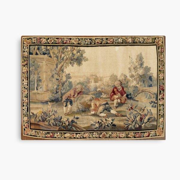 Aubusson  Antique French Tapestry Print Canvas Print