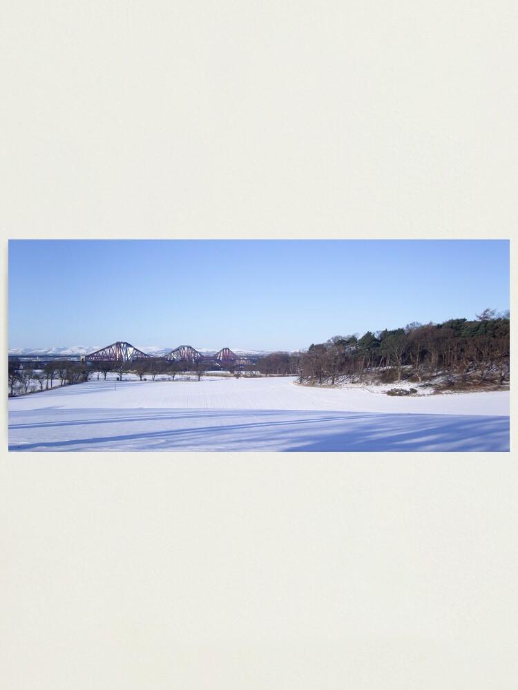 Alternate view of Winter Bridge Photographic Print