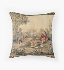 Aubusson  Antique French Tapestry Throw Pillow