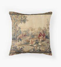 Cojín Aubusson antiguo tapiz francés