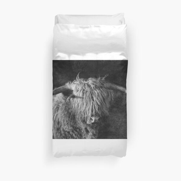 Highlander - Scottish highland cow Duvet Cover