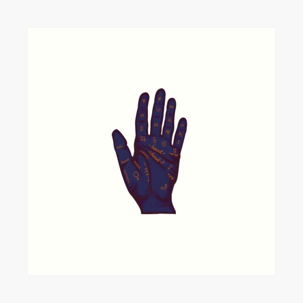 Hand Fortune Lines | Palm Reading Art Print