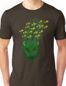 Sea Buffalo Dreaming Green Heart  T-Shirt