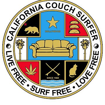 California Couch Surfer Seal by GUS3141592