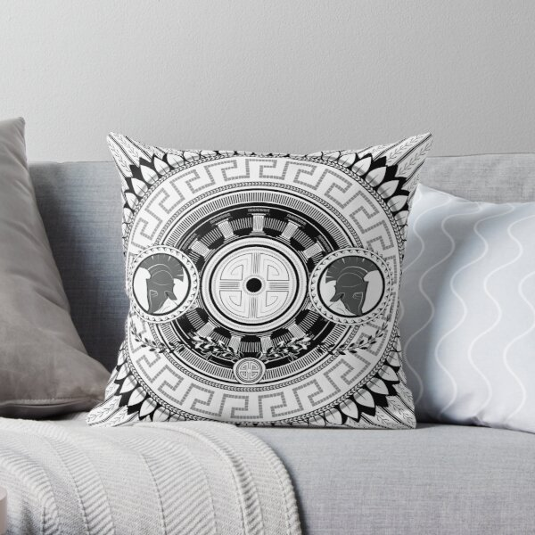 Grecian Pattern Design Throw Pillow