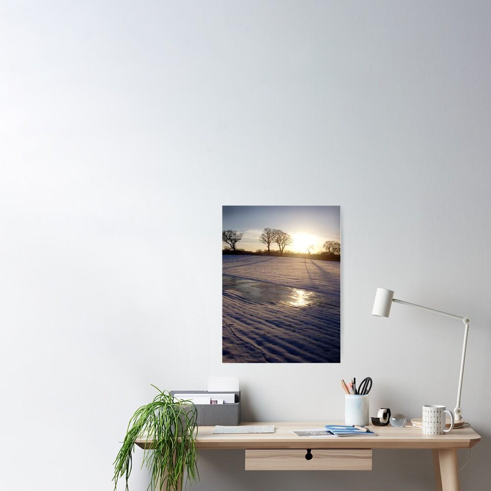 Dalmeny Winter Sun Poster