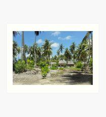 an awe-inspiring Kiribati landscape Art Print