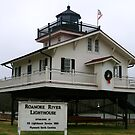 Roanoake River Lighthouse in Plymouth, North Carolina by Susan Russell