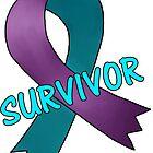 Domestic Violence Survivor - Intimate Partner Violence Survivor Ribbon by Kat Sanders