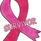Breast Cancer Survivor Ribbon by Kat Sanders