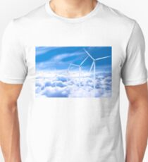 Wind turbines over Copenhagen blue sky, Denmark T-Shirt