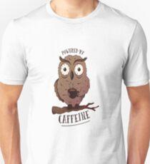 a0ed7e3cb Night Owl Powered By Coffee Design Slim Fit T-Shirt