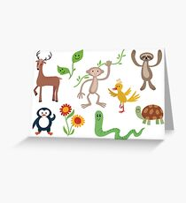 Cute Nature Vectors Greeting Card