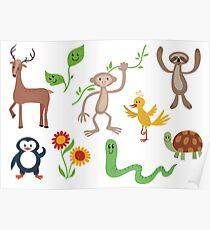 Cute Nature Vectors Poster