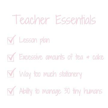 Teacher Essential Checklist Bag by MummyOfFour