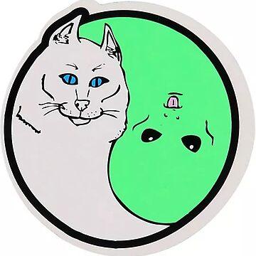 Rip N Dip Cat Alien Yin Yang by alleriaprints