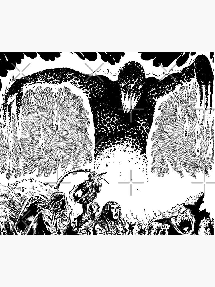 Lava Monster City Burn Horror Art by thebroodingmuse