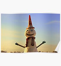 Conehead the Snowman Poster
