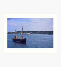 Fishing boat returning to Killybegs Harbour, Donegal, Ireland, circa 1959 Art Print