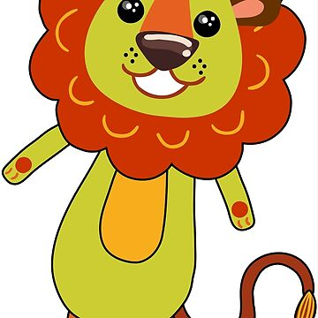 Lion Cartoon Funny Kids by HogarthArts